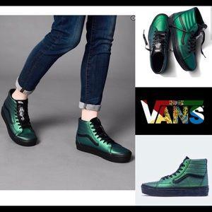Vans Harry Potter Sk8 Hi Emerald Green Dark Arts